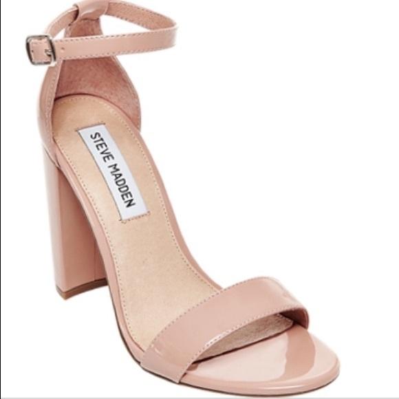 9500a1f8c37 Steve Madden Carrson Patent Ankle Strap Heels. M 5aca6af805f4301f72b321d4